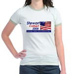 Stewart / Colbert for Preside Jr. Ringer T-Shirt