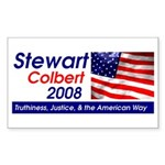 Stewart / Colbert for Preside Sticker (Rectangular