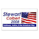 Stewart / Colbert for Preside Sticker (Rectangular
