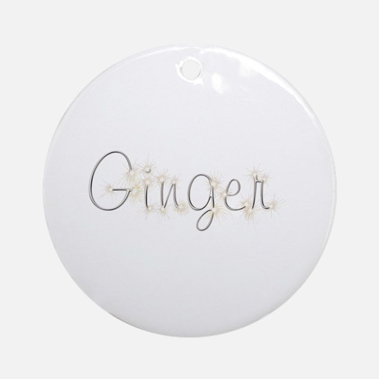 Ginger Spark Round Ornament
