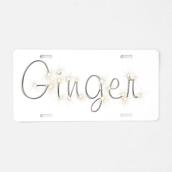 Ginger Spark Aluminum License Plate
