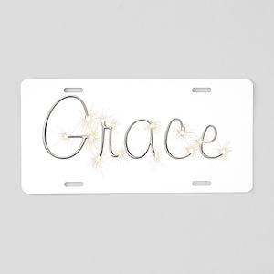 Grace Spark Aluminum License Plate