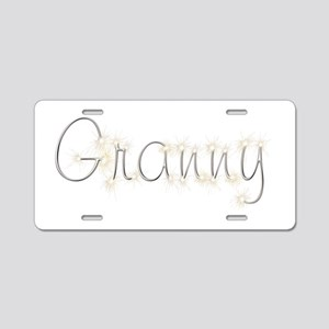 Granny Spark Aluminum License Plate
