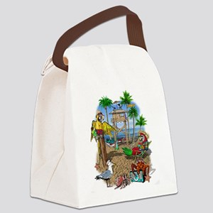 Parrot Beach Shack Canvas Lunch Bag