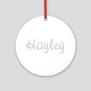 Hayley Spark Round Ornament