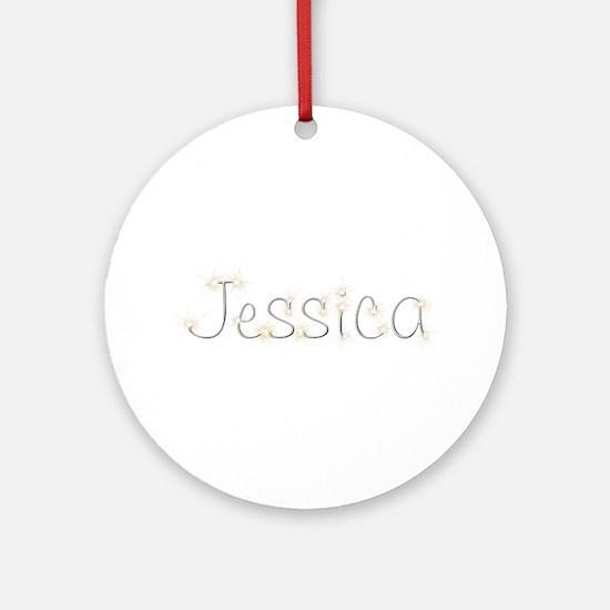 Jessica Spark Round Ornament