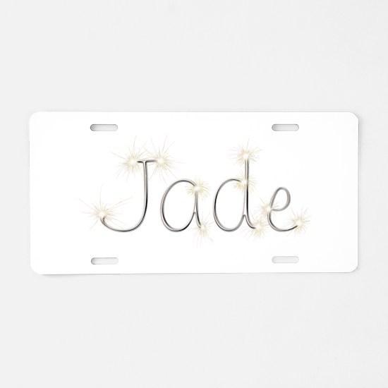 Jade Spark Aluminum License Plate