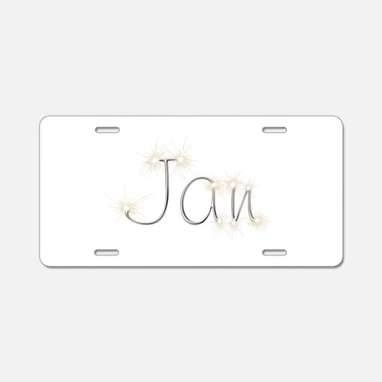 Jan Spark Aluminum License Plate