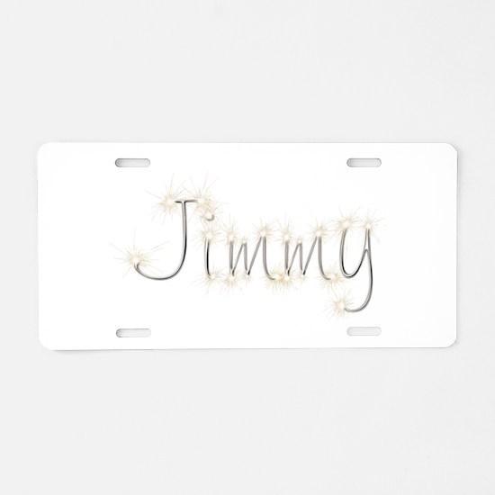 Jimmy Spark Aluminum License Plate