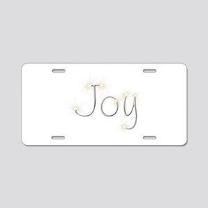 Joy Spark Aluminum License Plate