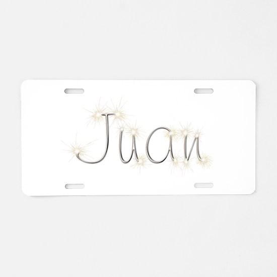 Juan Spark Aluminum License Plate