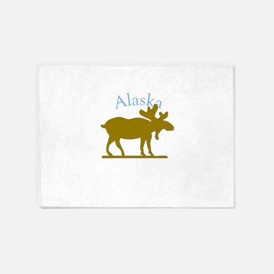 Alaskan Moose For Black Backgrounds 5'x7'Area Rug