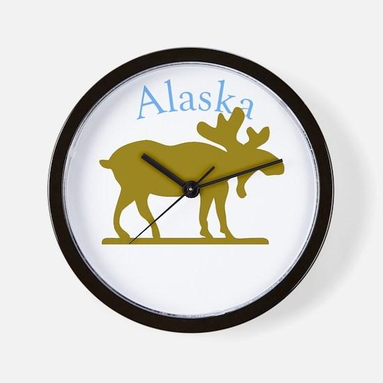 Alaskan Moose For Black Backgrounds Wall Clock