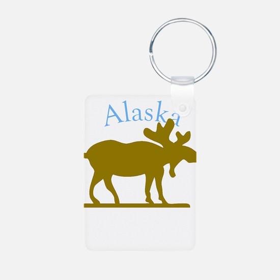 Alaskan Moose For Black Backgrounds Keychains