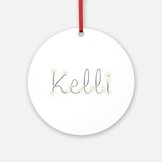 Kelli Spark Round Ornament