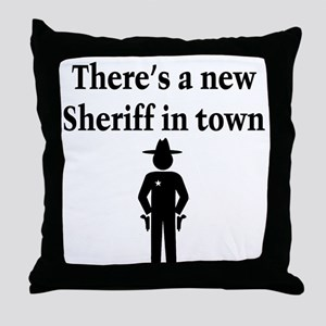 SHERIFF Throw Pillow