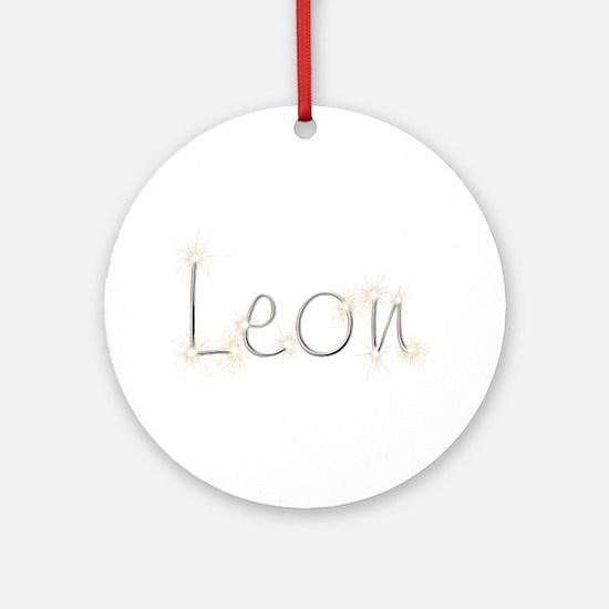 Leon Spark Round Ornament