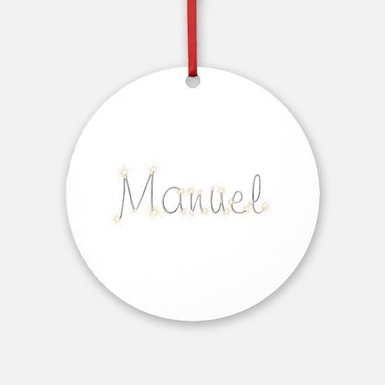 Manuel Spark Round Ornament