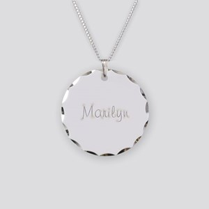 Marilyn Spark Necklace Circle Charm