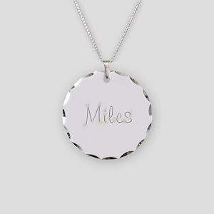 Miles Spark Necklace Circle Charm