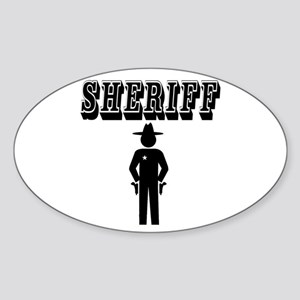 SHERIFF Sticker (Oval)