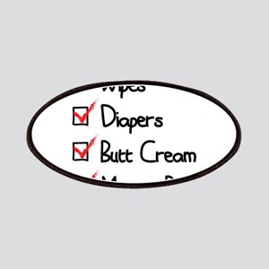 wipes, diapers, butt cream, mommy blog Patches