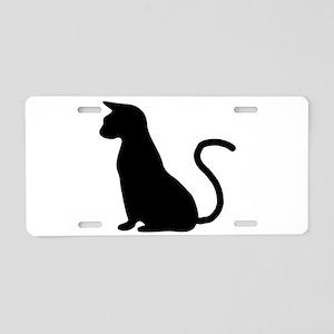 Cat Silhouette Aluminum License Plate