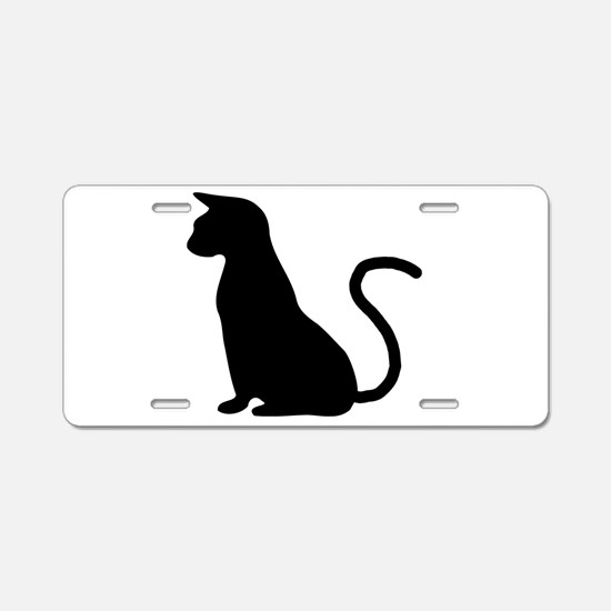 Cat Silhouette Aluminum License Plate