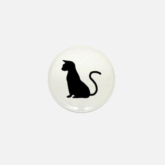 Cat Silhouette Mini Button