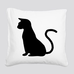 Cat Silhouette Square Canvas Pillow