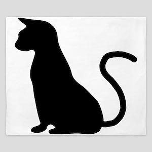 Cat Silhouette King Duvet