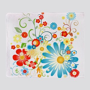 floweredvector Throw Blanket