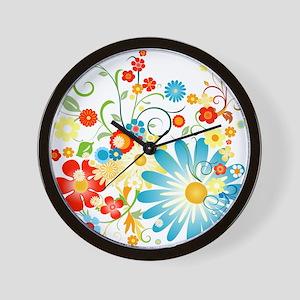 floweredvector Wall Clock