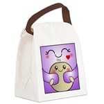 Kawaii Mother and Child Cute Hug Canvas Lunch Bag
