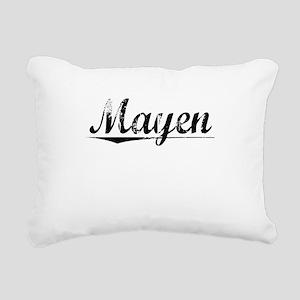 Mayen, Aged, Rectangular Canvas Pillow