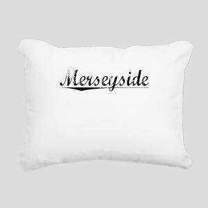Merseyside, Aged, Rectangular Canvas Pillow