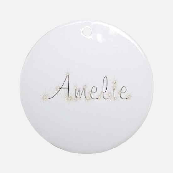 Amelie Spark Round Ornament