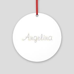 Angelina Spark Round Ornament