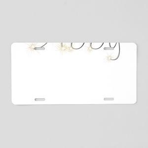 Abby Spark Aluminum License Plate