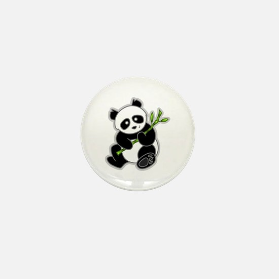 Sitting Panda Bear Mini Button