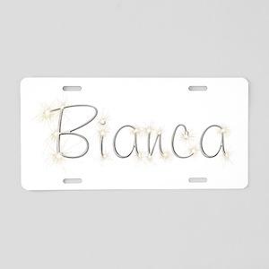 Bianca Spark Aluminum License Plate