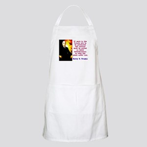 If Wars In The Future - Harry Truman Light Apron