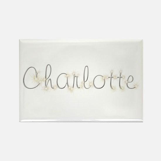 Charlotte Spark Rectangle Magnet