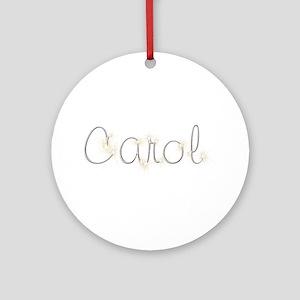 Carol Spark Round Ornament
