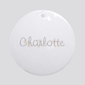 Charlotte Spark Round Ornament