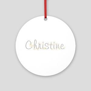 Christine Spark Round Ornament