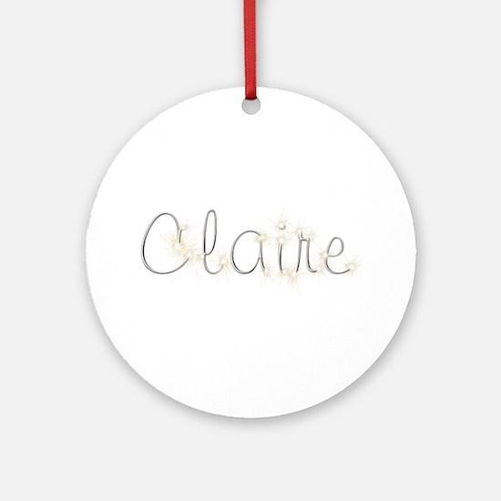 Claire Spark Round Ornament