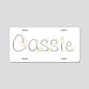 Cassie Spark Aluminum License Plate