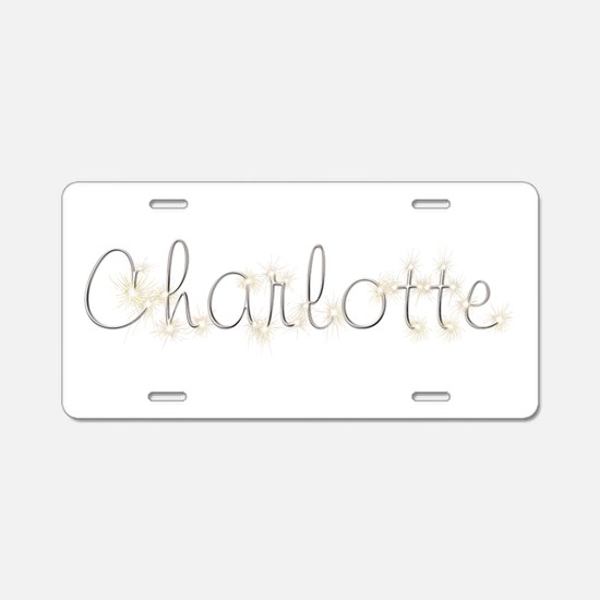 Charlotte Spark Aluminum License Plate