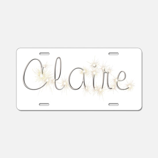 Claire Spark Aluminum License Plate